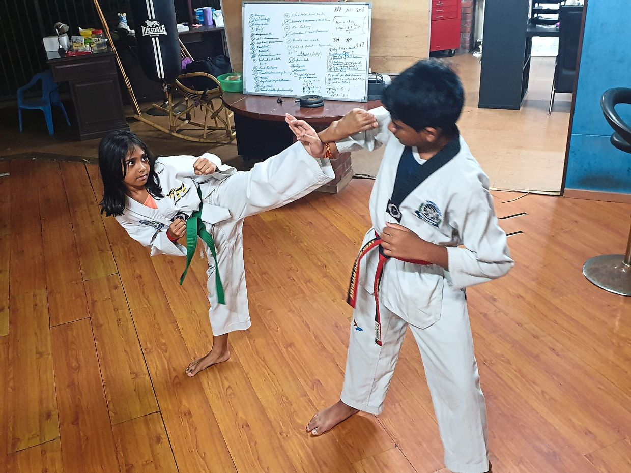 Joining after-school activities like taekwondo helps children keep physically active and expend their energy. Photo: Sanjugtha Vigneswaran