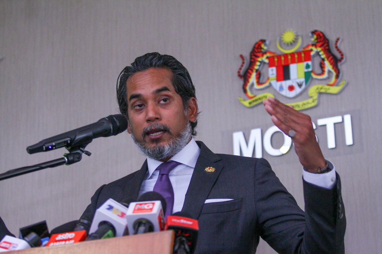 Khairy said a viral video promoting anti-vaccine sentiments was removed from YouTube recently. — MOHD SAHAR MISNI/The Star