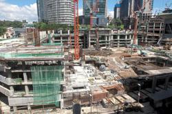 Sanitisation of Jalan Damanlela construction site continues