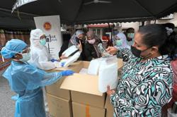 Protective gear for Kelana Jaya clinic