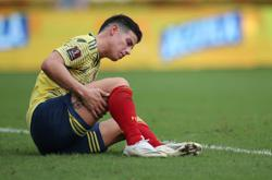 Colombia's Rodriguez denies bust-up after Ecuador mauling
