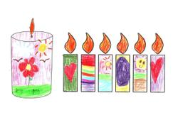 Starchild: Malaysian children get creative with their candle drawings