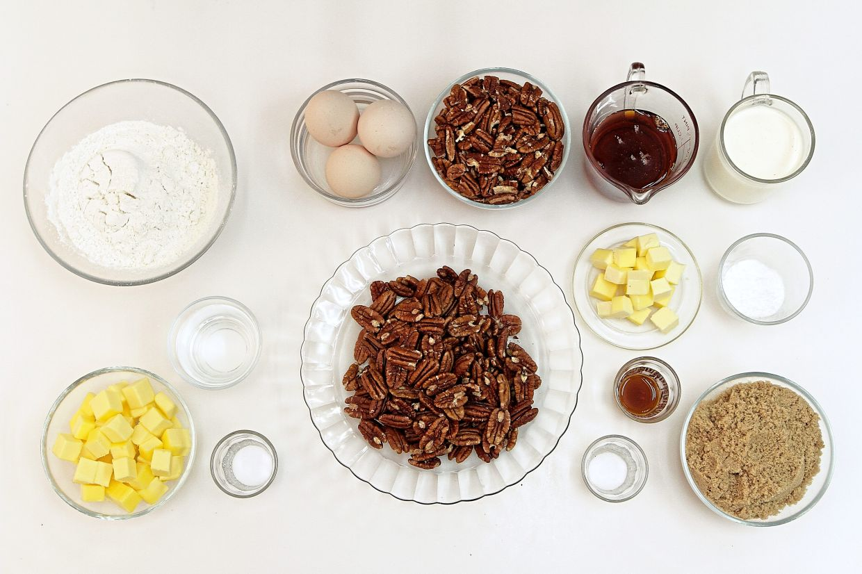 The ingredients for pecan pie. — Photos: YAP CHEE HONG/The Star