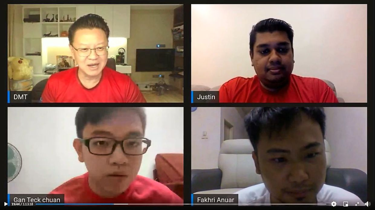 Clear communication: Tio (top left) constantly connects with PKT staff members through online tools such as video conferencing, as he believes communication with stakeholders is key to align them with the group's goals.