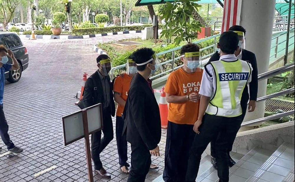 Two of the four suspects remanded at the Shah Alam magistrate court