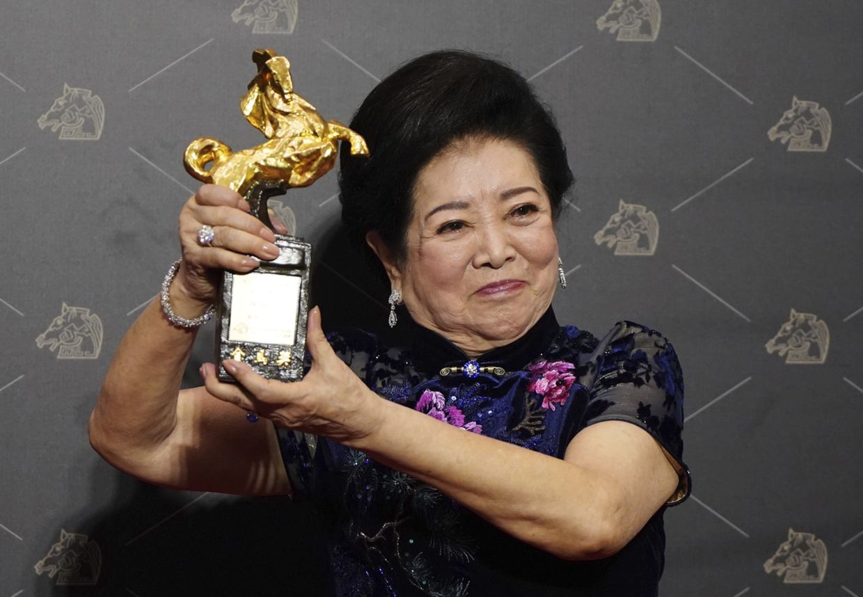 Veteran Taiwanese actress Chen Shu-fang was the biggest individual winner of the night, bagging both Best Actress and Best Supporting Actress awards. Photo: Reuters