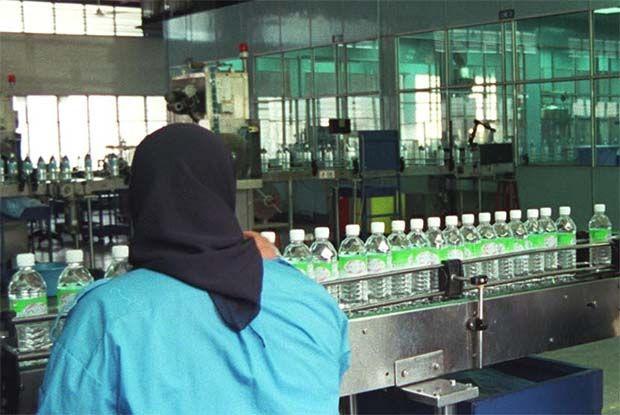 Spritzer bottling plant