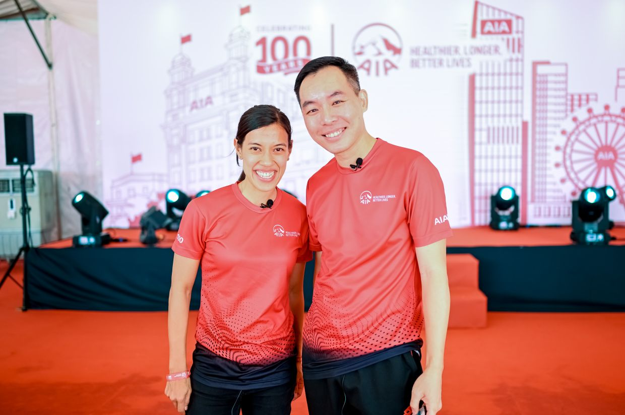 Nicol and Heng taking one for the album pre-pandemic. Nicol is a perfect fit for AIA as someone who embodies the same values and has the ability to rally Malaysians of all ages and from all walks of life, said Heng.