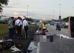 Fatal motorcycle accident in Shah Alam