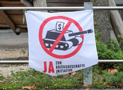 Swiss to vote on banning the funding of weapons makers
