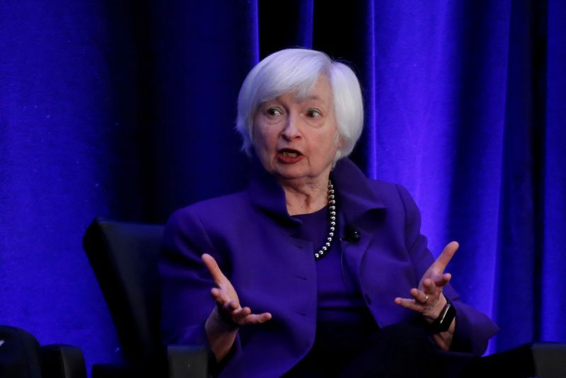 FILE PHOTO Former Federal Reserve Chair Janet Yellen speaks during a panel discussion at the American Economic AssociationAllied Social Science Association ASSA 2019 meeting in Atlanta Georgia U.S. January 4 2019.  REUTERSChristopher Aluka Berry