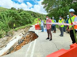 Raub JKR seeks funds to repair damaged road