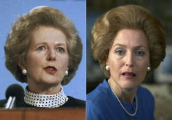 Gillian Anderson shares photos of her transforming into Margaret Thatcher