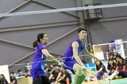 Pei Jing gives the thumbs up to new mixed partner Zii Jia