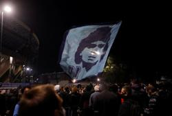 Naples stunned by the death of its soccer idol, Maradona