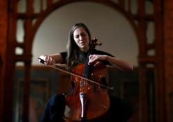 Cellist turns locked-down museums into backdrop for 'healing art'