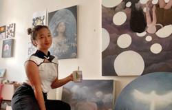 Newcomer artist's first solo exhibit is a tribute to her late father