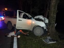 Man killed in accident near Sibu after truck rams into tree