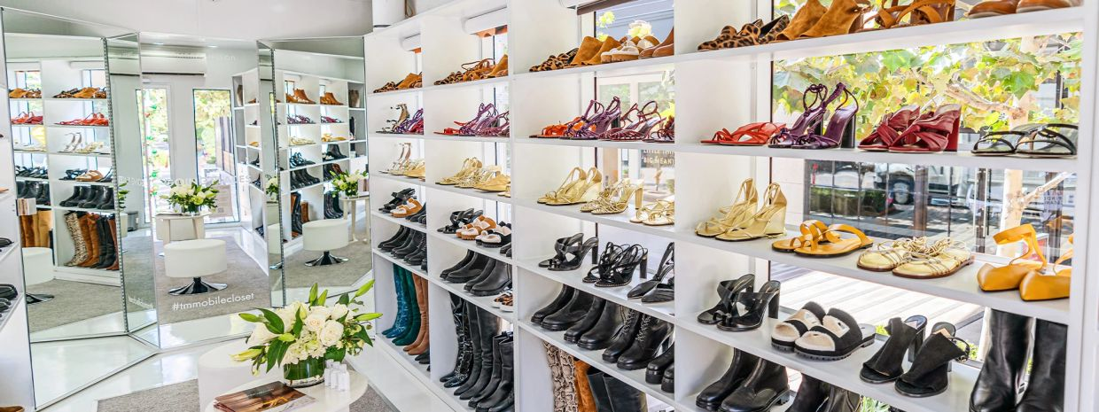 A mobile shoe closet made stops in the US to cater to fashion lovers who can't travel far because of pandemic restrictions. Photo: Tamara Mellon