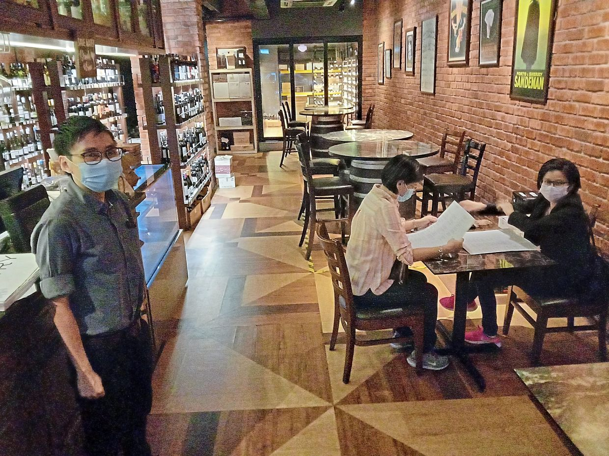 On the first day of Vintry's opening, Chong said groups preferred to dine on the upper floor. — Photo: GRACE CHEN/The Star