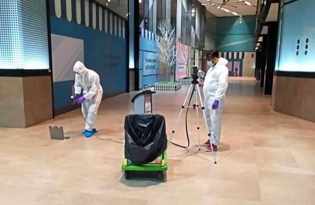 To keep visitors safe at DC Mall, a team of cleaners are deployed every two to three hours to sanitise escalator belts, public toilets and lift buttons.