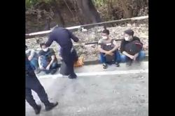Cops begin probe into viral video of man in police uniform kicking a person