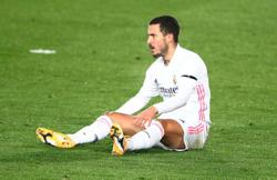 Real Madrid's Hazard sidelined with thigh injury