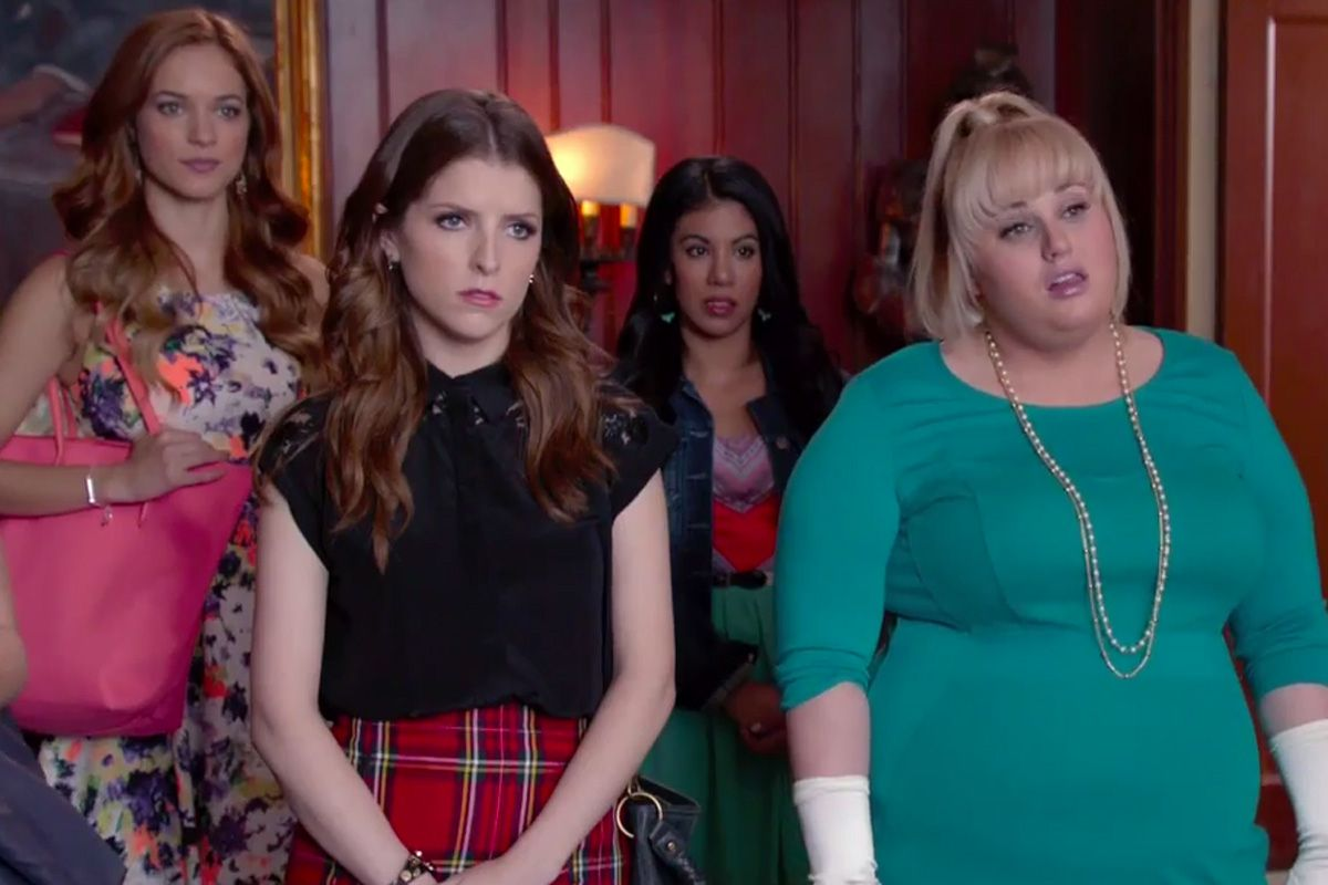 Rebel Wilson (right) and Anna Kendrick in a scene from 'Pitch Perfect'. Photo: Handout