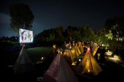 Indonesians in Bandung watch movies under the stars amid pandemic