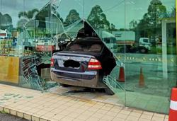 This isn't a drive-thru ma'am: Woman accidentally drives into petrol station convenience store in Bangi