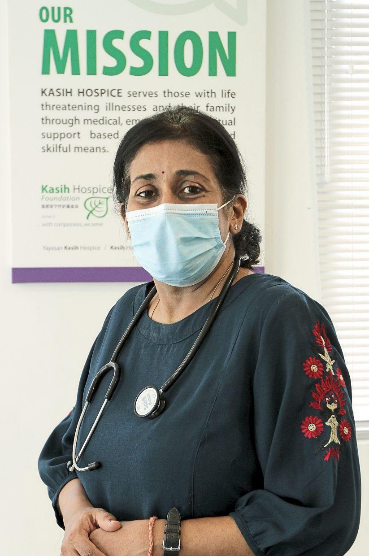 Kasih Hospice's Dr Vanitha. Photo: The Star/Yap Chee Hong