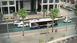 These electric buses can be charged while driving