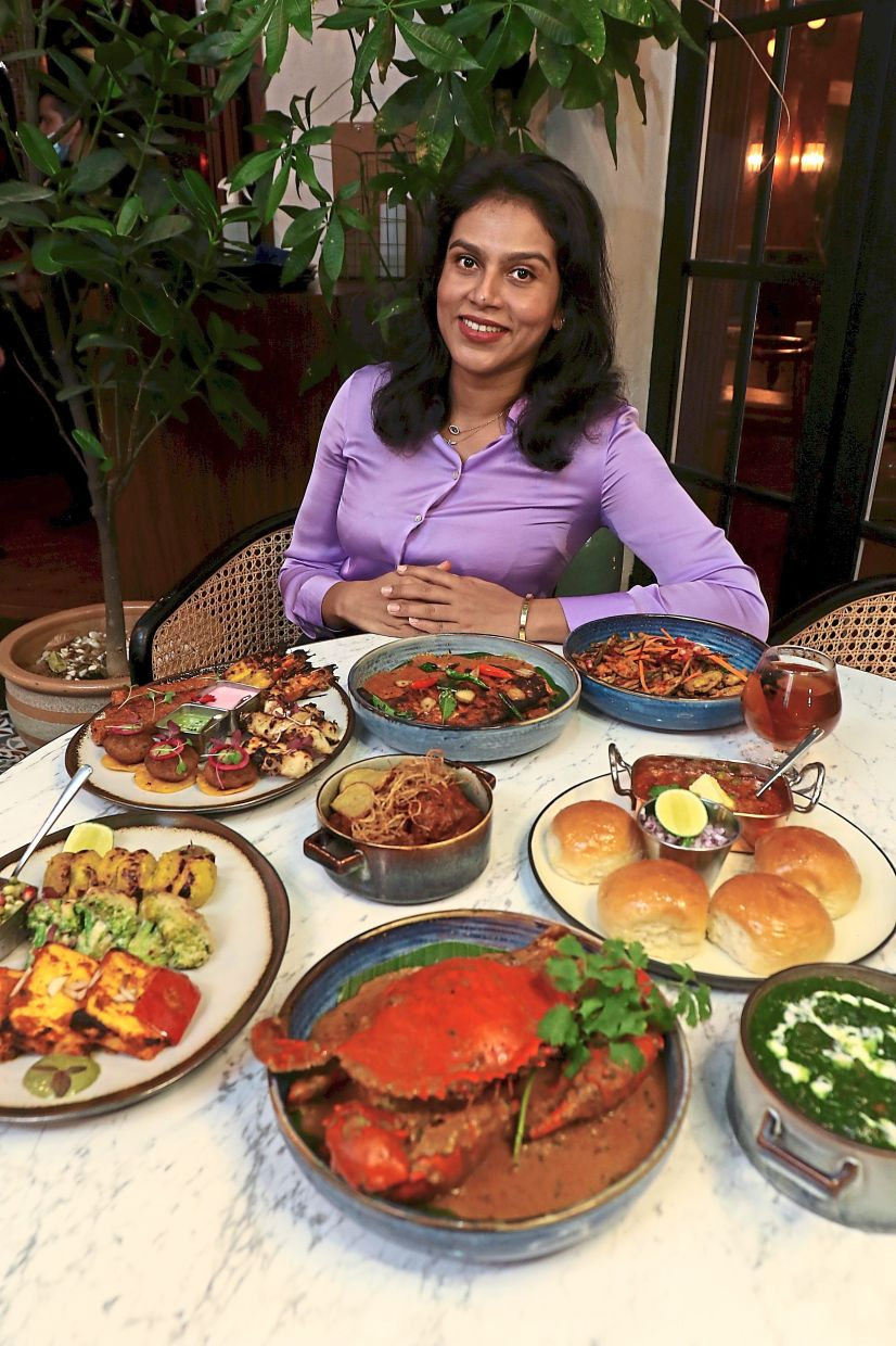 Erina envisioned owning a restaurant to showcase an array of favourites from India. — Photos: FAIHAN GHANI/The Star