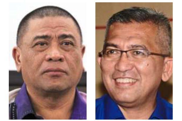 Contenders: Saarani (left) and Shahrul.