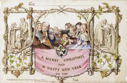Cheers! Or not: 'Scandalous' 1st Christmas card up for sale