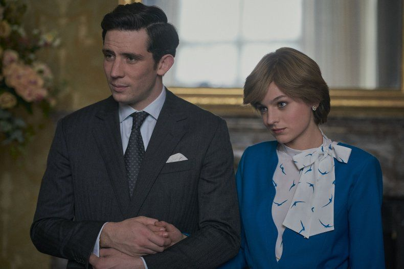 Josh O'Connor and Emma Corrin play Prince Charles and Princess Diana respectively in Season Four of The Crown. Photo: Handout