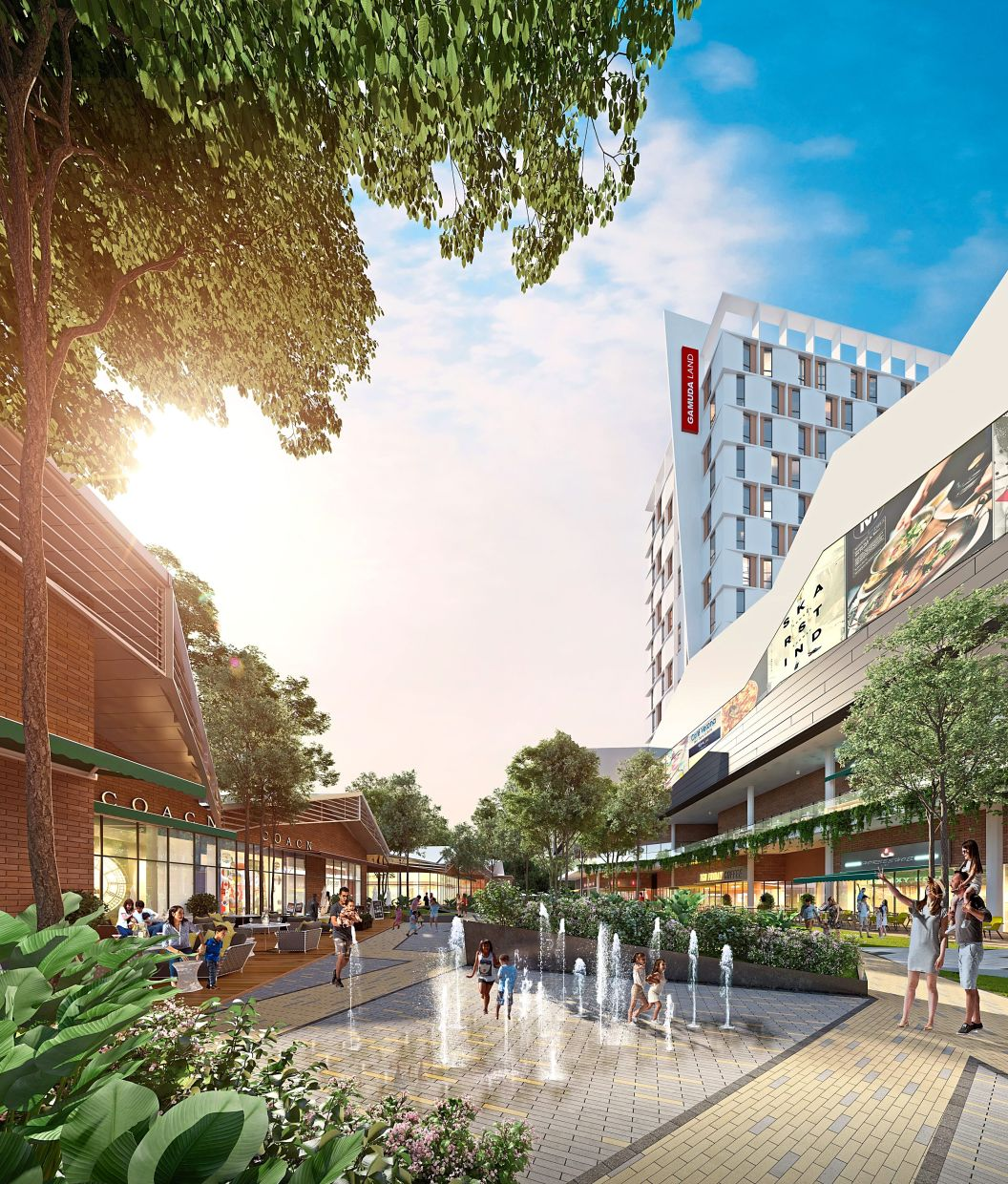 Quayside Mall's design addresses growing demand for open retail spaces post-lockdown.
