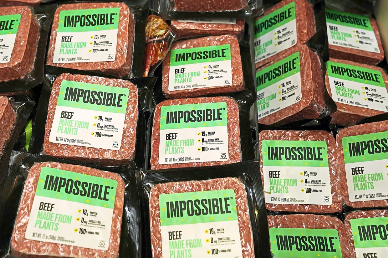 Nearly 40% of global food producers are now committed to coming up with plant-based alternatives to meat and dairy, like this plant-based beef. — Reuters