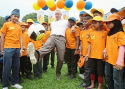 Football legend's gift to children worldwide
