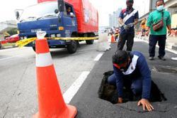 DBKL repairs sinkhole near TRX building along Jalan Tun Razak