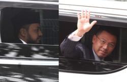 Perak Pakatan leaders arrive at Istana Kinta for audience with Sultan