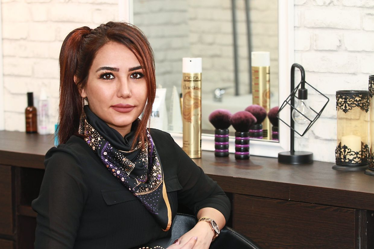 Nedda started thinking of a new strategy to promote her salon after business slumped following the MCO. — LOW LAY PHON/The Star