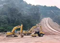 Stop-work order on Bukit Enggang road project