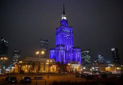 Warsaw, Budapest light up in blue to show solidarity with EU ahead of summit