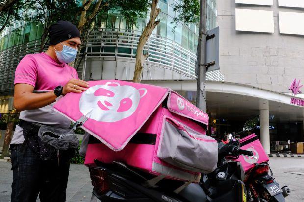 Food Panda delivery in Kuala Lumpur.