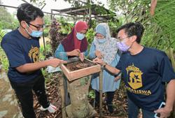 UiTM students help the poor by raising stingless bees