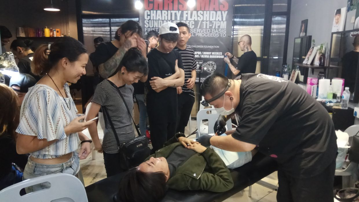 2017 charity flash event where the proceeds went to Dignity for Children Foundation. Photo: Alvin Chong