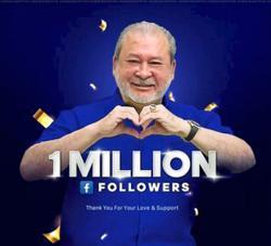 Sultan Ibrahim now has one million FB followers