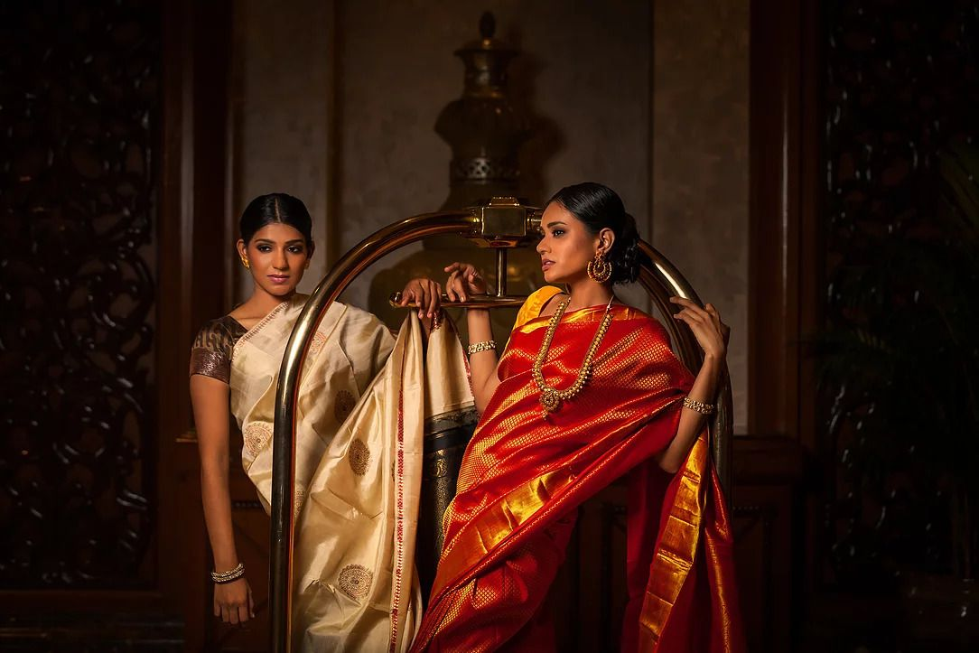With sarees, it is difficult to separate heritage and elements of design. Photo: Zobha