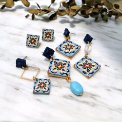 Malaysian highlights rich heritage via Peranakan tile-inspired clay jewellery